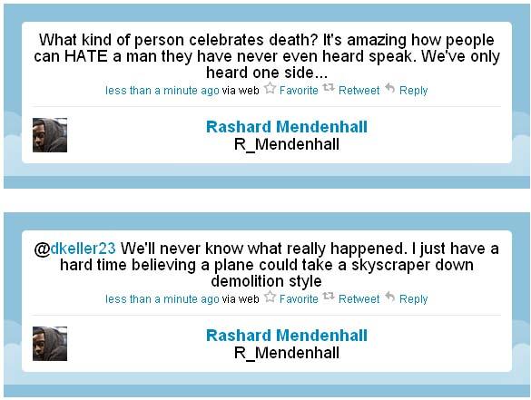 Rashard Mendenhall tweet