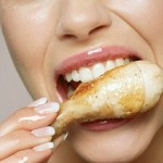colon cancer, healthy chicken
