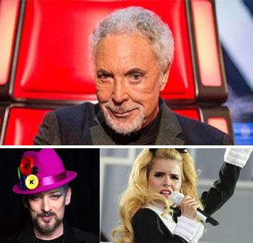 Boy George, the voice 2015, tom jones, Paloma Faith